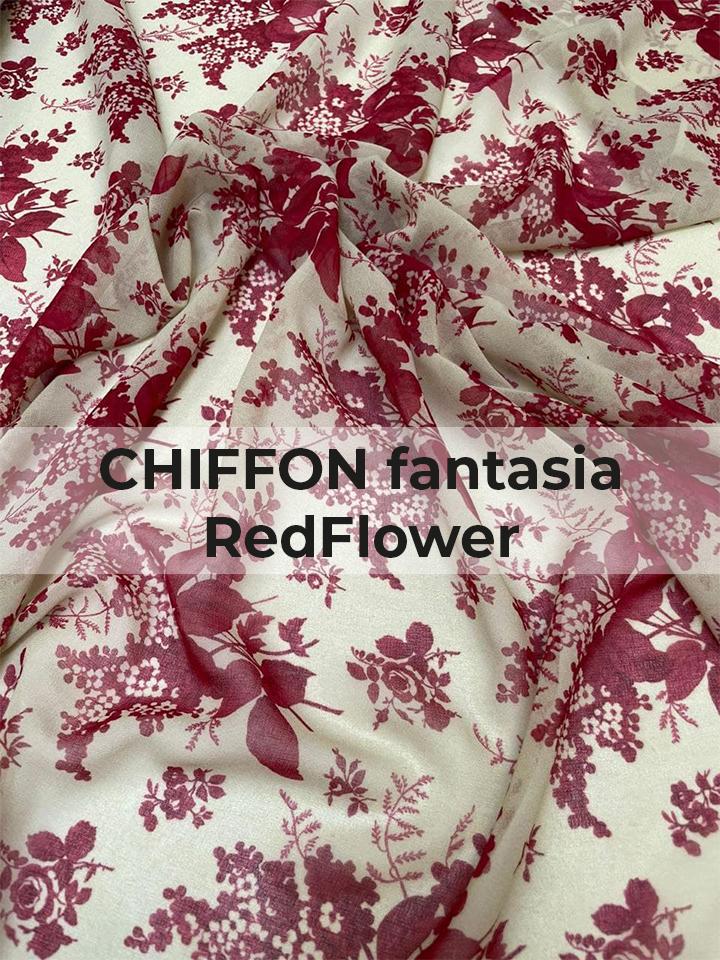 CHIFFON fantasia RedFlower