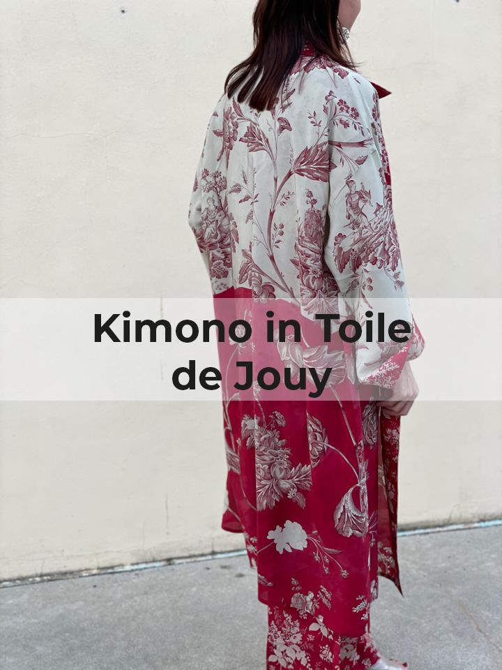 Kimono in Toile de Jouy