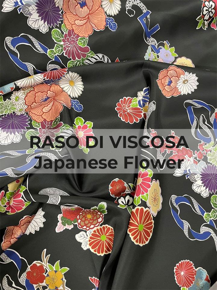 RASO DI VISCOSA Japanese Flower